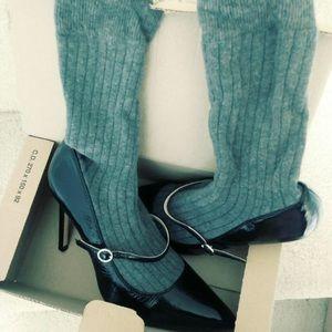 Sock Attached Maryjane Black Heels